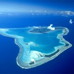 Arial Shot of Glover's Reef Atoll